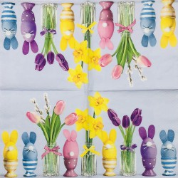 Napkin Tulips and eggs