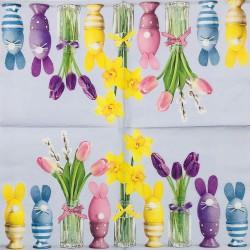 Servetėlė Tulpės ir kiaušiniai