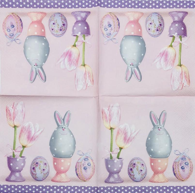 Servetėlė Kiaušiniai ir tulpės