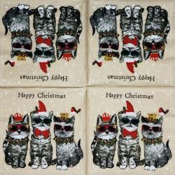 Servetėlė Kalėdinės katės