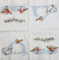 Servetėlė Paukščiai ir peliukas