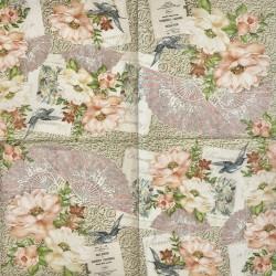 Servetėlė Gėlės ir vėduoklė