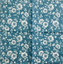 Servetėlė Gėlės (mėlynas fonas)