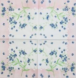 Servetėlė Gėlės (mėlynos)
