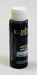 Matiniai akriliniai dažai Juoda (70 ml)