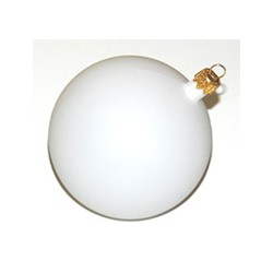 Christmas ball white (8 cm)
