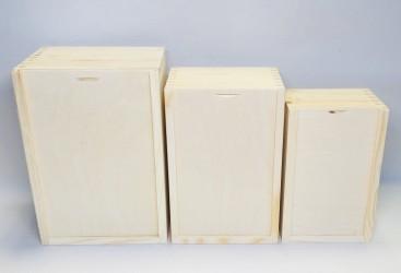 Atstumiamų dėžučių rinkinys (3 vnt)