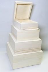 Kvadratinių dėžučių rinkinys (4 vnt)