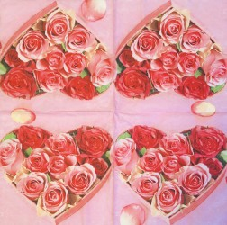 Servetėlė Rožių širdis