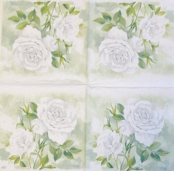 Servetėlė Balta rožė