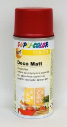 Deco matt Spray paint 150ml Flame red