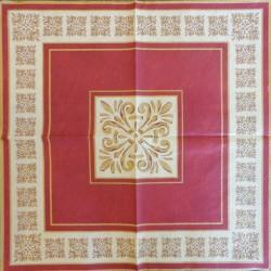 Servetėlė Ornamentai (raudoni)