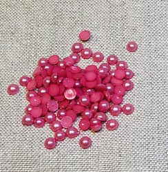 Pusiniai akriliniai perliukai Rožiniai (6 mm apie 100 vnt)
