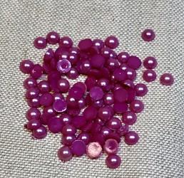 Half pearls Purple (6mm, 100pcs)