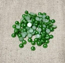Pusiniai akriliniai perliukai Žali (6 mm apie 100 vnt)