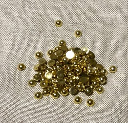 Half pearls Gold (6mm, 100pcs)