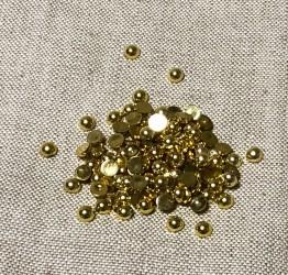Pusiniai akriliniai perliukai Auksiniai (6 mm apie 100 vnt)