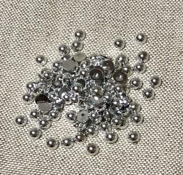 Pusiniai akriliniai perliukai Sidabriniai (6 mm apie 100...