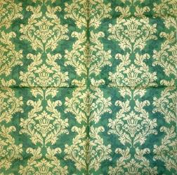 Servetėlė Ornamentai Žalias fonas