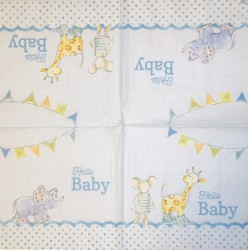 Napkin Animals Blue