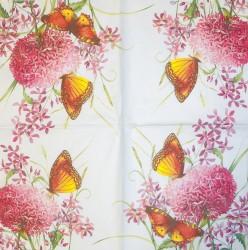 Servetėlė Drugelis ir gėlės