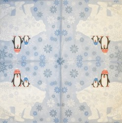 Servetėlė Pingviniukai