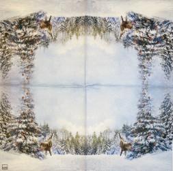 Servetėlė Kalėdos miške