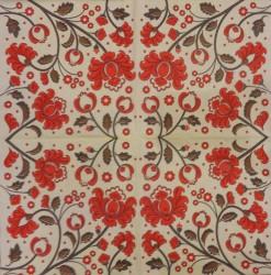 Servetėlė Gėlės (raudonos)