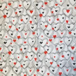 Napkin Hearts