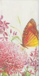 Popierinė nosinaitė Drugelis ir gėlės