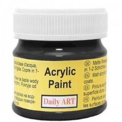 Matiniai akriliniai dažai Juodi (50 ml)