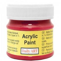 Matiniai akriliniai dažai Raudoni (50 ml)