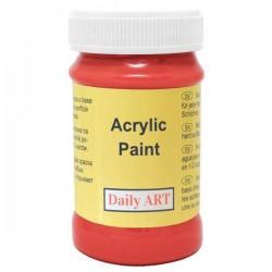 Matiniai akriliniai dažai Skaisčiai raudona (100 ml)