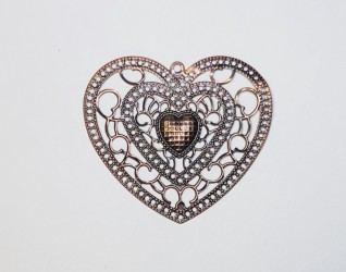 Azul heart bronze