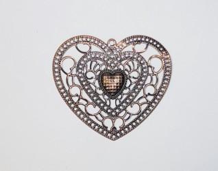 Azul heart bronze