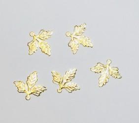 Ažūriniai lapeliai (5vnt, Aukso spalva)