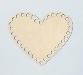 Crochet plate heart 15 cm