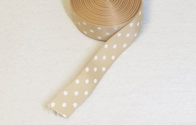 Satin ribbon dotted Capuchino 1m