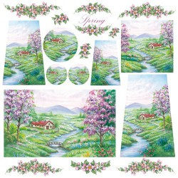 Ryžinė servetėlė - upelis