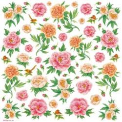 Ryžinė servetėlė - gėlės