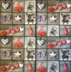 Servetėlė Kalėdinės dekoracijos