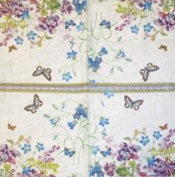 Servetėlė Gėlės ir drugeliai