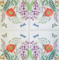 Servetėlė Aguona ir drugeliai