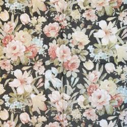 Servetėlė Gėlės juodas fonas