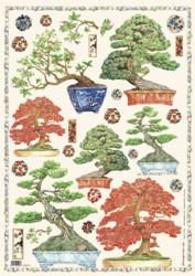 Dekupažinis popierius Bonsai
