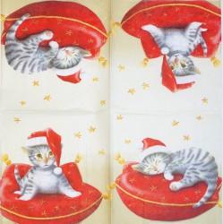 Servetėlė Kačiukas ant pagalvės