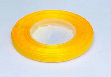 Satininės juostelė Tamsiai geltona (0,6cm pločio, 32m)