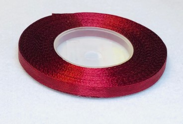 Satin Ribbon Burgundy (0,6cm, 32m)