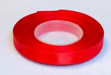 Satininės juostelė Raudona (1,2cm pločio, 32m)