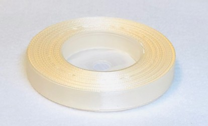 Satin Ribbon Cream (1,2cm, 32m)